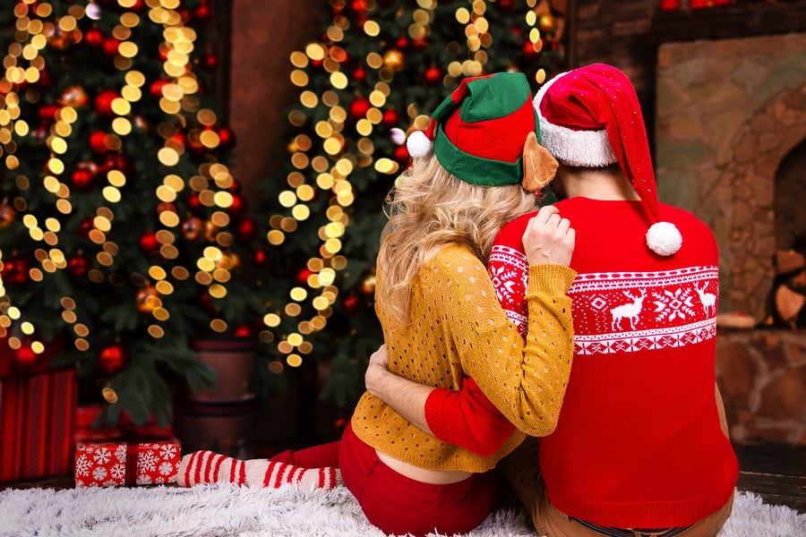 Couple In Love Christmas